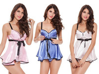 sexy lingerie Sleeveless hot sexy costumes, kimono, sleepwear, erotic nightgown, gown dress, pajamas for women