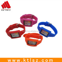 Cheap colorful silicone rubber wristband watch for sale