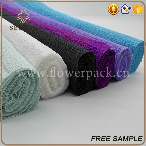 wholesale plain colour exquisite floral wrapping crepe paper
