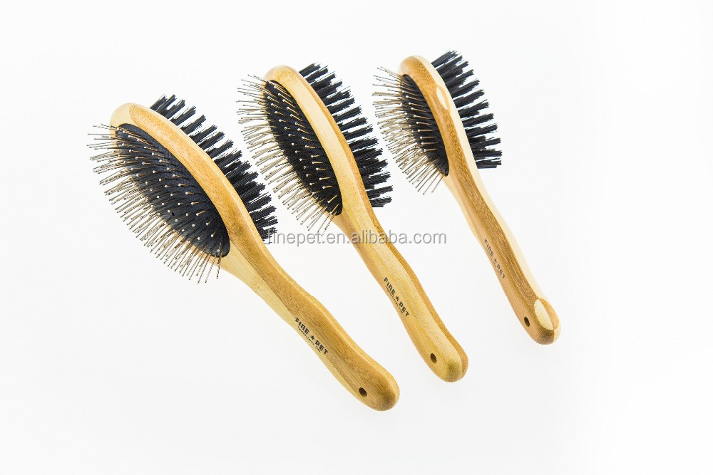 2016 New Handle Design Double Side Pet Brush, grooming dog