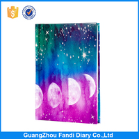 Popular office stationary paper product a5 hard cover notebook