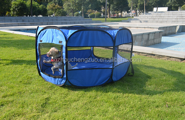 "Hot Selling 45""X45""X23"" Foldable Camping Pet House,CZ-012 Pet Playpen 8 Panel Camping Puppy Dog Tent,Foldable Pet Tent"