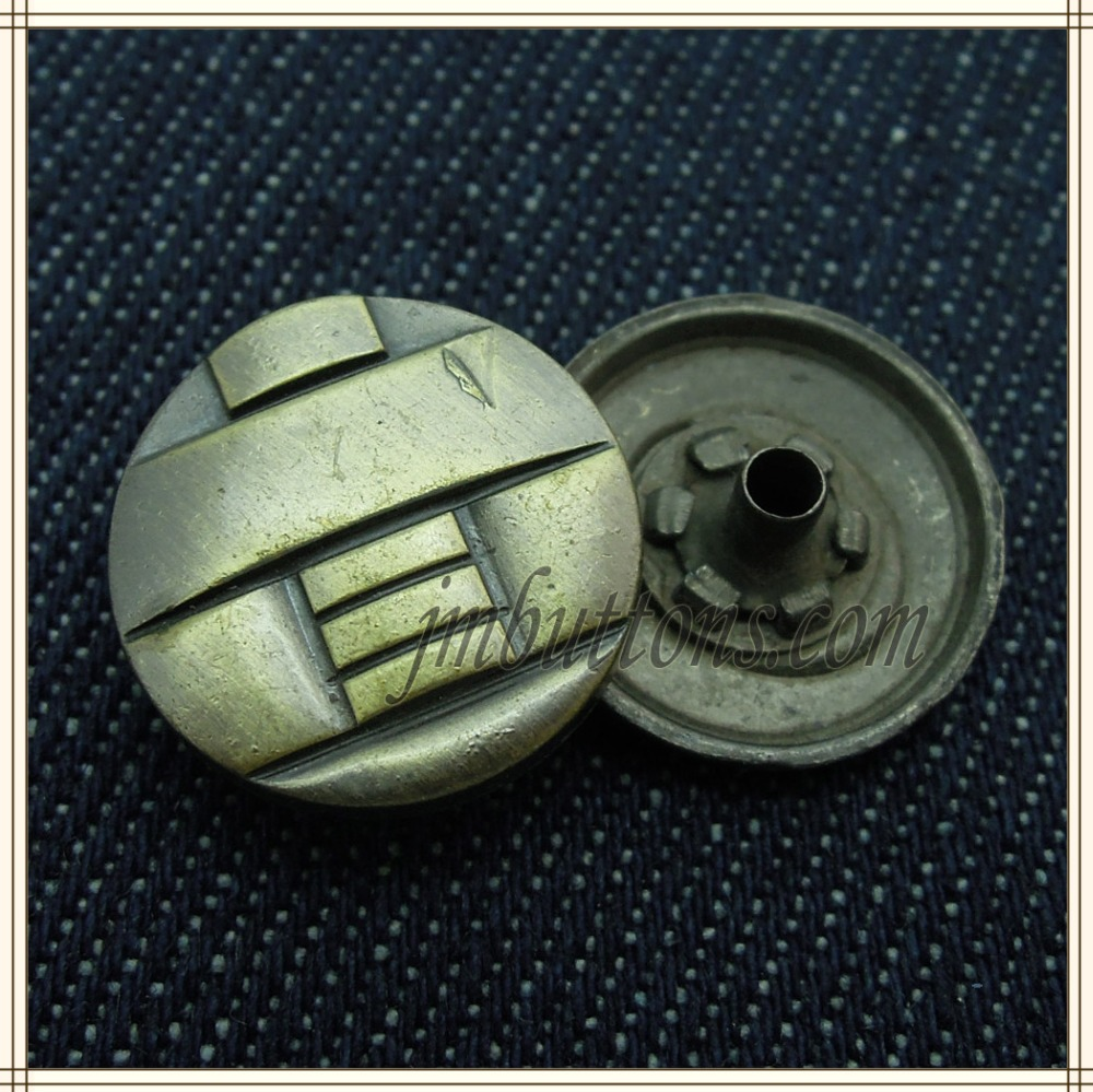 men jeans antique brass old style jacket metal buttons snap