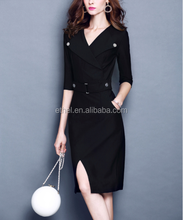 Alibaba Express fashion clothing 2018 guangzhou wholesale hotsale simple pattern elegant women western dresses names girls
