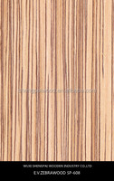 cheap good quality laminated engineered zebrano timber wood veneer sheets for home decoration