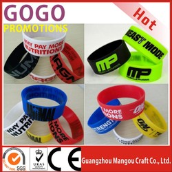 "hot sales lowest cost and high quality silicone bracelet,Promotional Custom Silicone wristband,1"" Wide Personalized Silicon band"