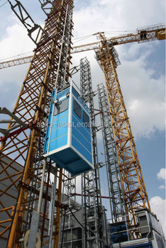 Personnel hoist for tower crane elevator