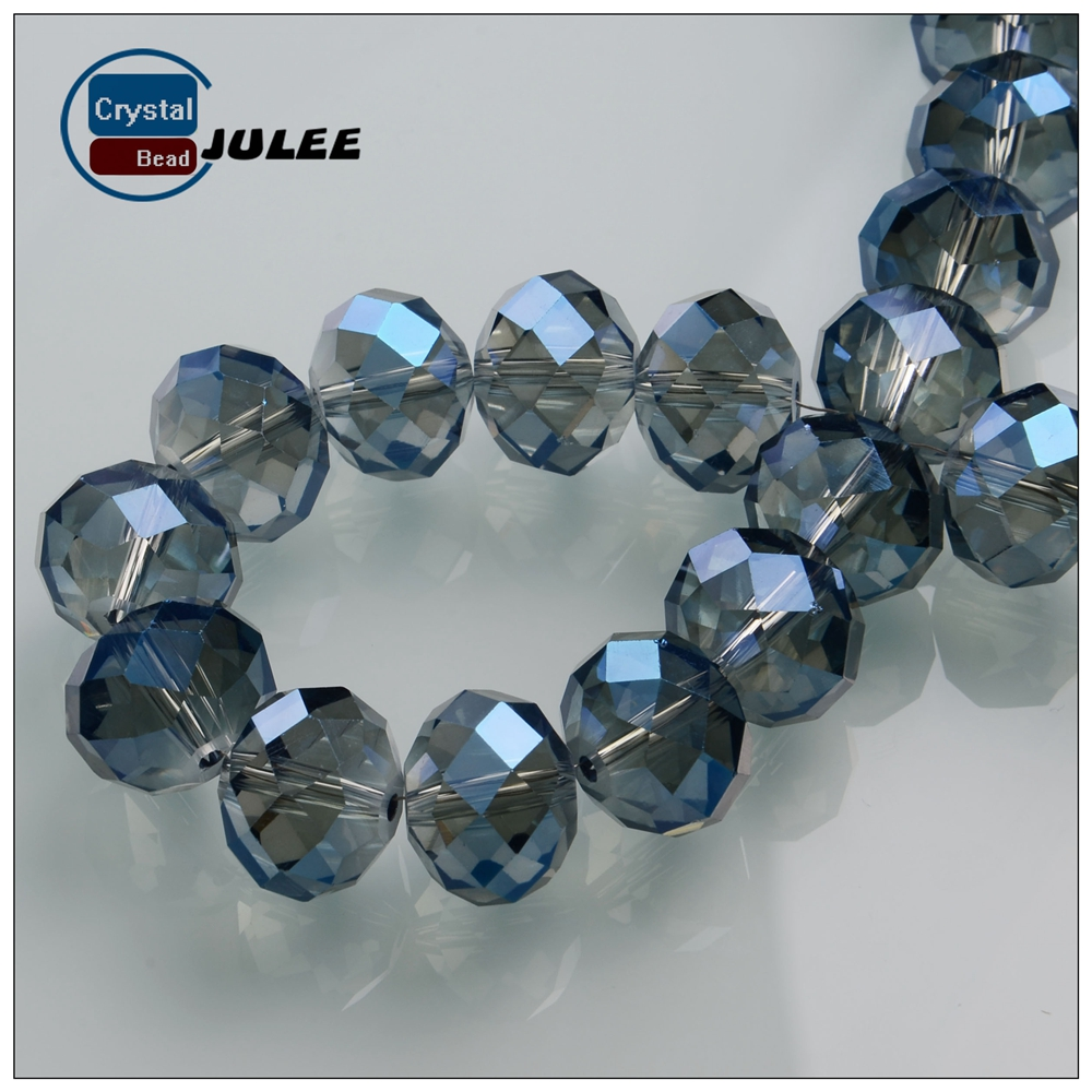 New design yiwu factory 8mm wholesale round glass beads manufacturer crystal rondelle beads for decoration