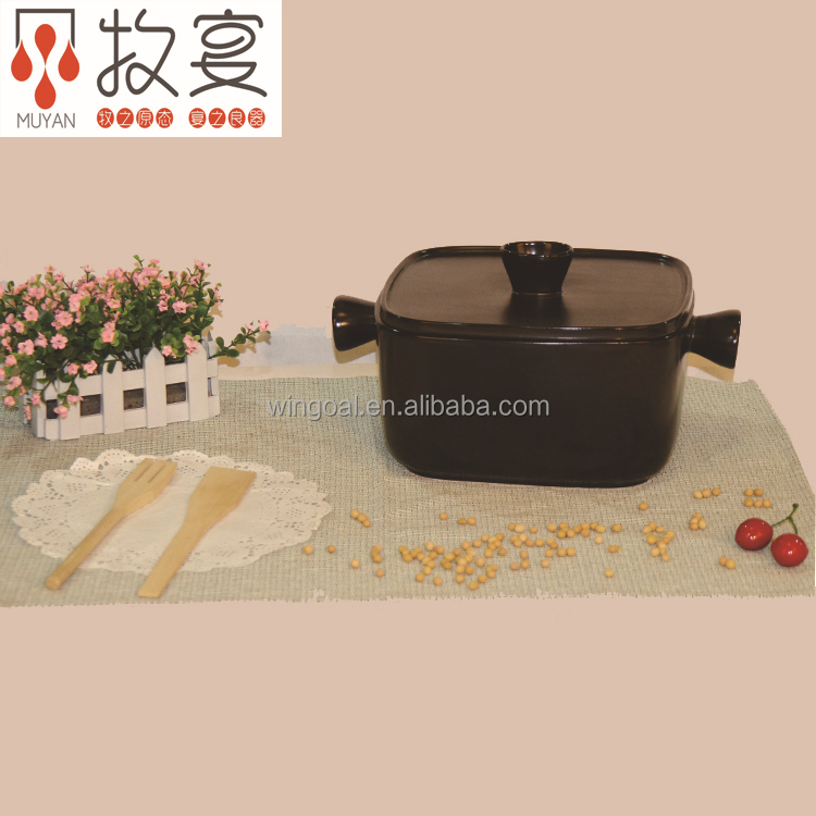 Chaozhou MUYAN heat-resistant ceramic casserole black Japanese style cookware warm keep new design