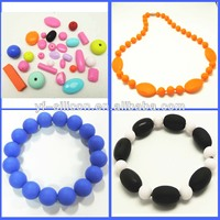 Multishaped Food Grade Silicone Baby Teether Chew Beads