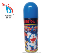hot sale&popular 250 ML Outdoor Artificial Doraemon Snow Spray for christmas party decoration