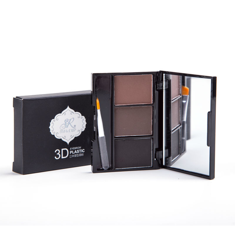 Professional make up products colour eyebrow powder make up eyebrow with brush
