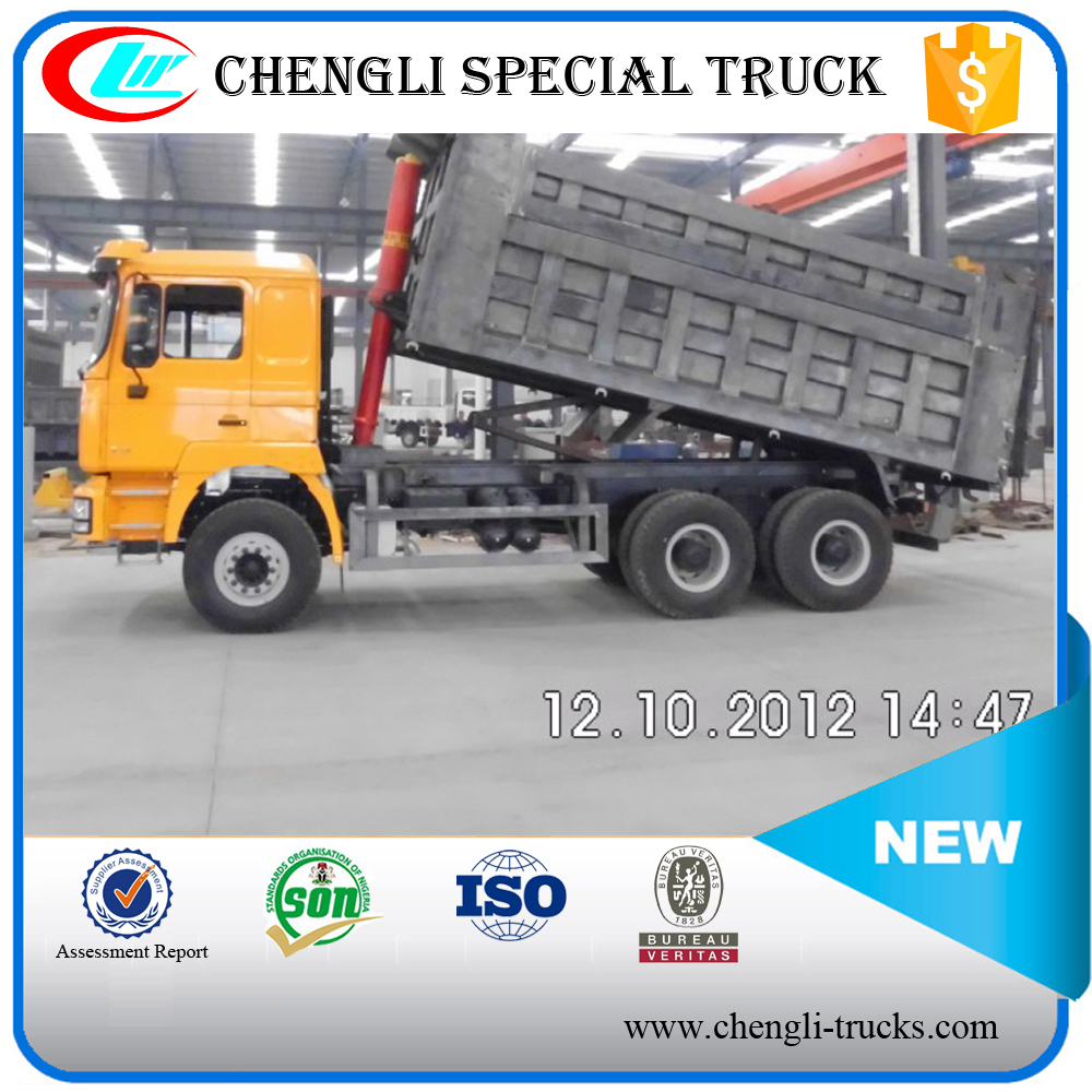 china supplier 45 tons loading 20cbm dump body 10 wheels 6*4 type shacman tipper truck algeria