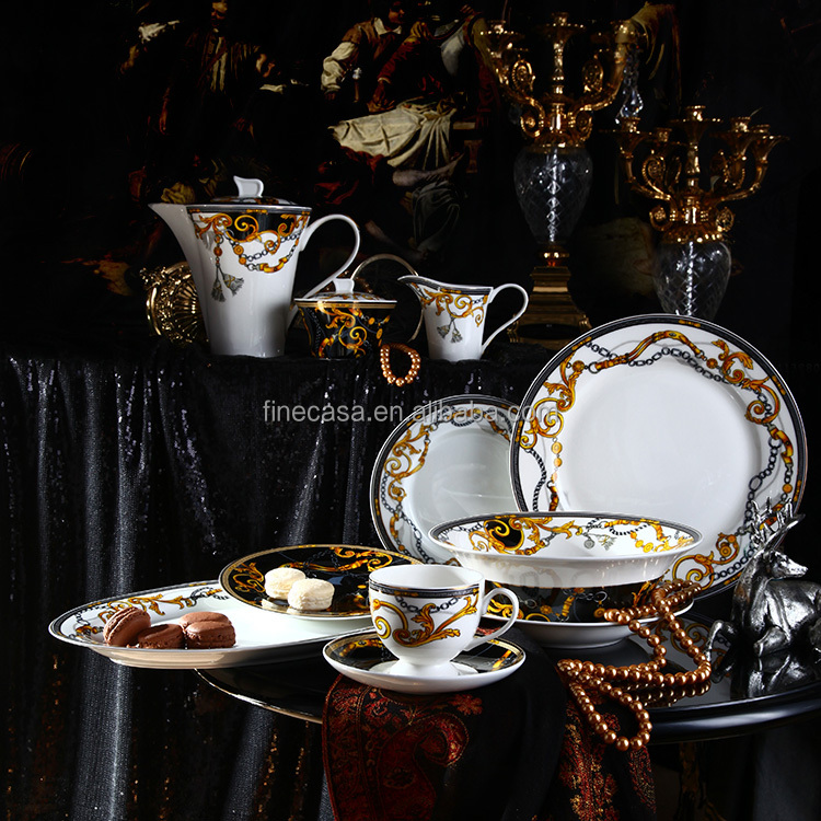 New Design 47 Pieces Luxury Porcelain Dinner Set