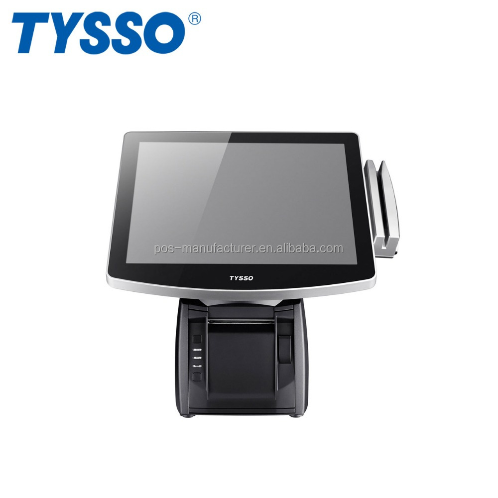 TYSSO All in One Full Flat Water Spill Proof Touch POS System