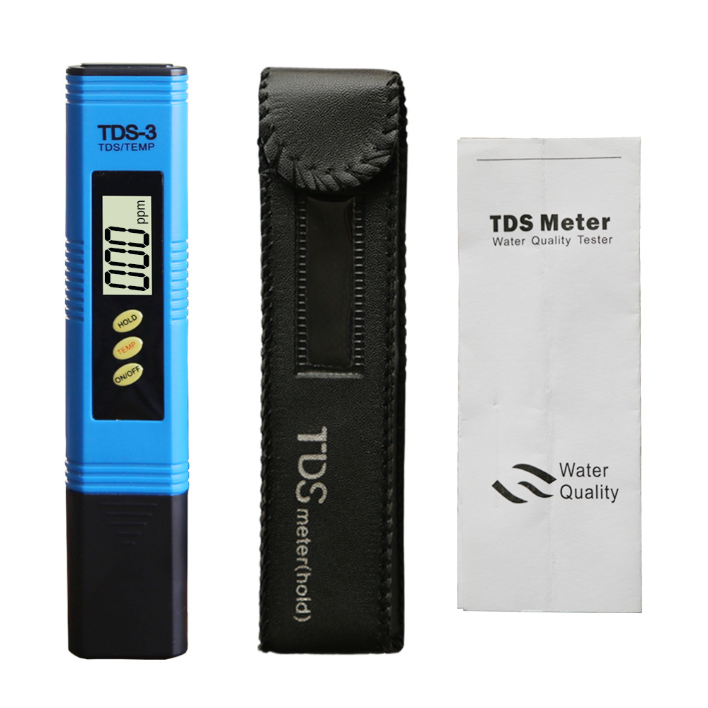 Low cost water quality tester for TDS meter hold