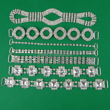 Fashion Designs Crystal Rhinestone Connectors For Bikini