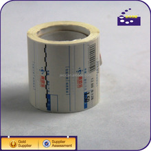 label printing machine roll sticker custom label sticker