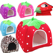 Wholesale pet dog house cat nest with strawberry cage dog kennel
