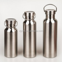 Popular Design vacuum insulated stainless steel water bottle(0.35 0.5 0.75 1L bamboo lid stainless steel lid)