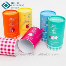 Round Cardboard tube Box Round Cylinder Gift Box for Sale