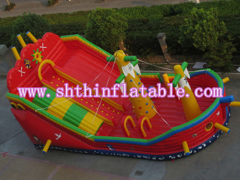kids giant inflatable pirate ship slide / Cheap Inflatable Slides For Sale