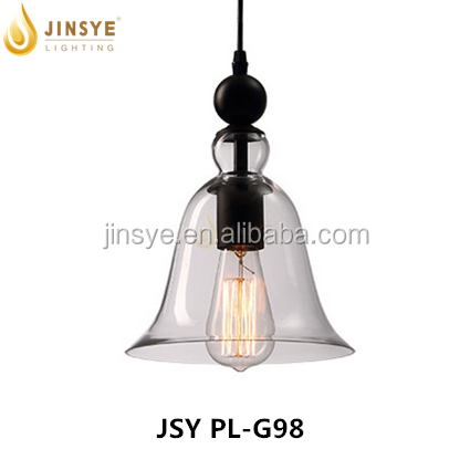 Horn shape Glass shade hanging pendant light indoor decorative ceiling pendant lamp light modern