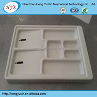Custom plastic vacuum formed tray, ABS thick plastic vacuum forming thermoforming process products