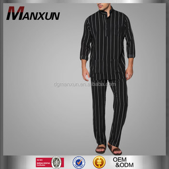 Wholesale Clothing Dubai Men Islamic Clothing Stand Collar Baju Melayu Regular Fit Jubba Photo