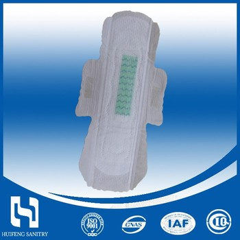 Natural Cotton Anion Sanitary Pad for women Sanitary Napkins with OEM,CE,FDA China Factory