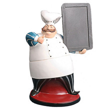 antique resin chef standing smart blackboard for sale