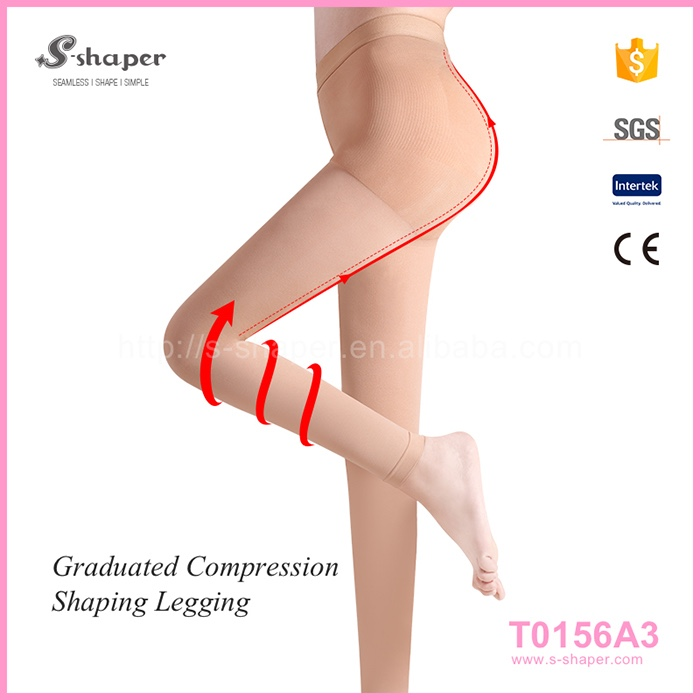 S-SHAPER Medical Compression Stocking Footless OPAQUE Compression Tights T0156A3