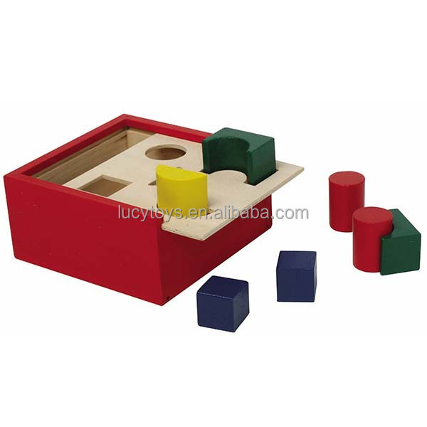 Wooden Shape Sorter Cube For OEM