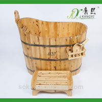 Small occupation, water saving and antique wood soaking tub with 1200*600*780mm