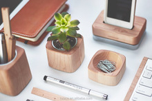 Walnut Dish for clip paperclip Office Supplies maple available wooden clip container clip box without lid