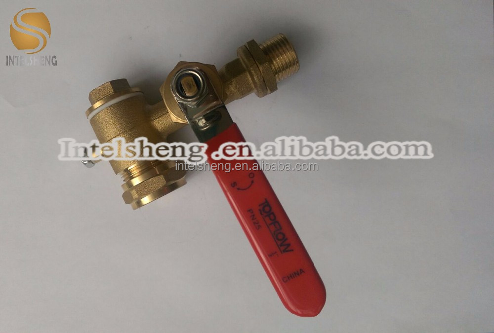 brass ball valve Single union 15mm/20mm/25mm pipe cock with iron long handle