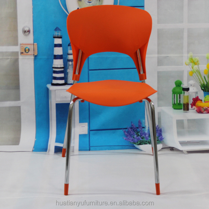Wholesale executive four metal legs plastic office chair cheap