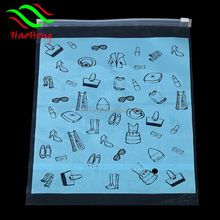 Wholesale customizing your logo clear resealable plastic packing bag with ziplock for clothes shoes