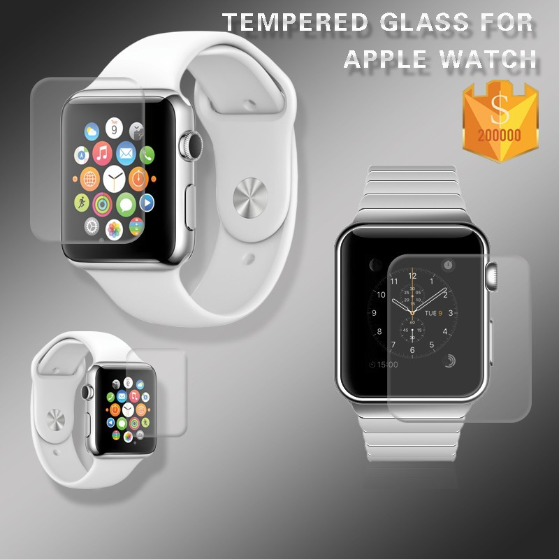 For Apple i Watch 42mm 9H Explosion-proof 0.2mm 2.5D Japan Asahi Anti-glare Tempered Glass Screen Protector Film