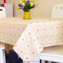 Printed PVC table cloth Home Decoration Floral Pattern Waterproof Oilproof tablecloths for weddings