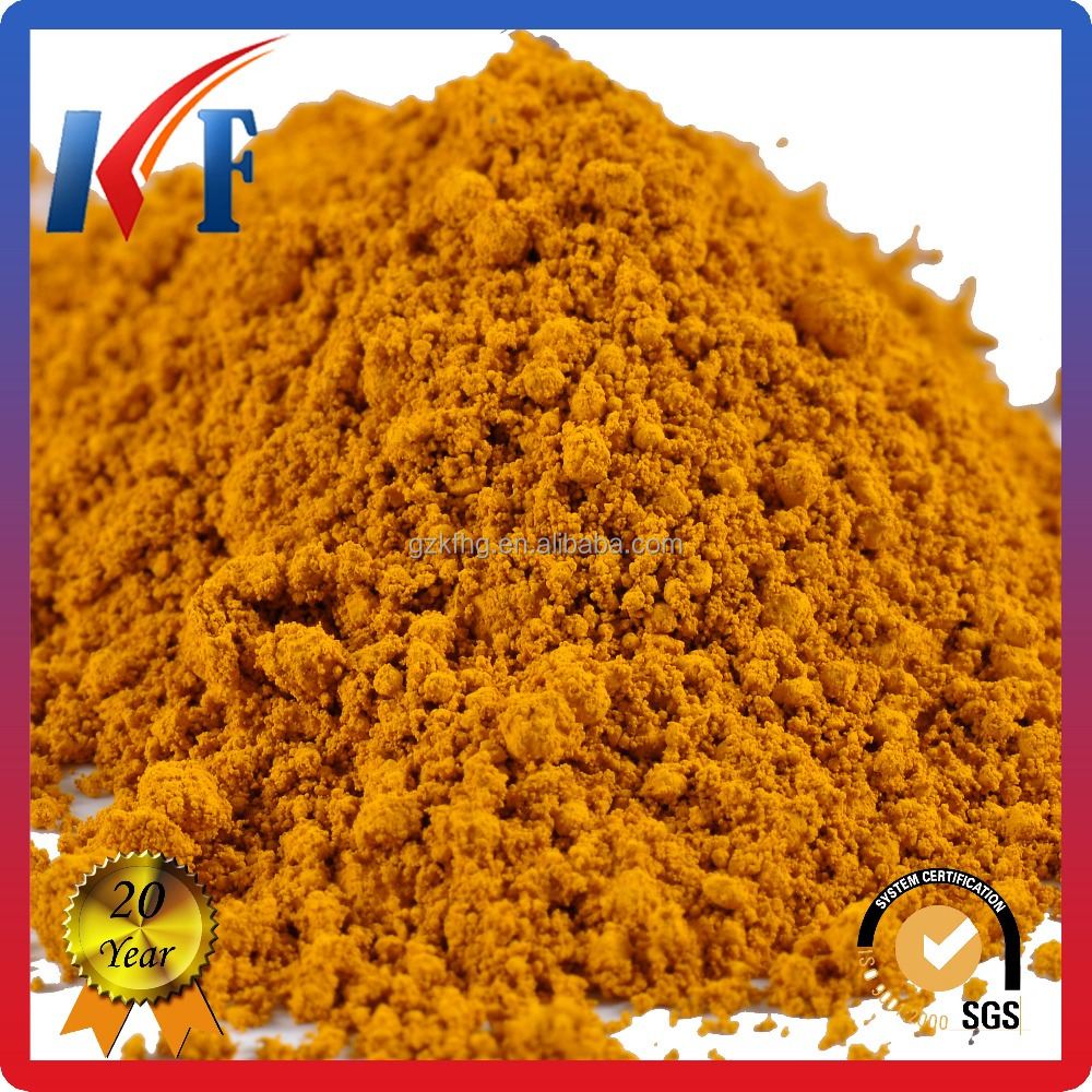 Fe2O3 Iron oxide yellow inorganic pigment for car paint