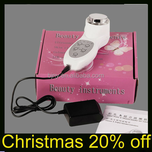 popular skin tightening photon ultrasonic waves skin care machine with 7 led lights /Christmas 20% Off