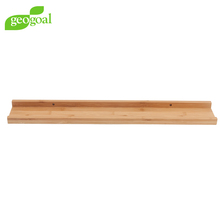 Bamboo Picture Ledge Floating Wall Shelf Mounted Display shelf for Home storage