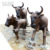 big size alive wildlife model cattle statue