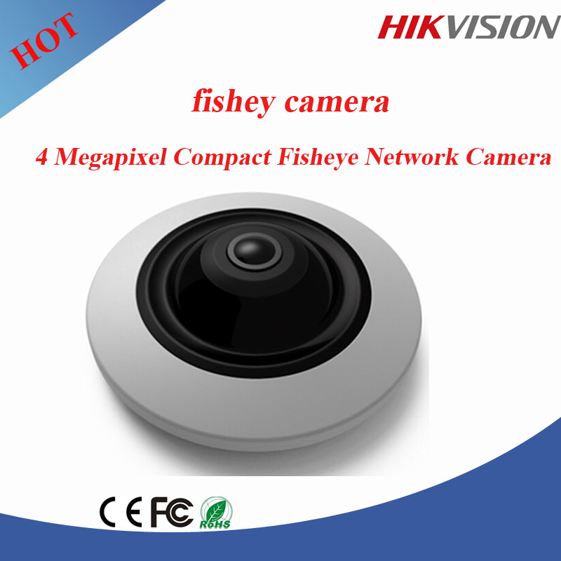 Hikvision IP Camera 4 Megapixel WDR Fisheye Network Camera ip camera poe with full HD image resolution
