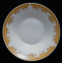 ceramic soup plate fake golden decal