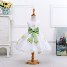 Eight Years Old Flower Girl Summer Frock Deisgn Kids Casual Daily Life Wear Clothing LM008