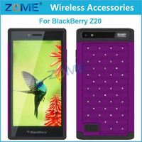 Bulk Buy From China For Blackberry Z20 Beautiful 2-In-1 Hard Case and Silicone Diamond Stud Hybrid Case
