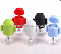 Android Robot Style 3.5mm Stereo Audio Headset/earphone to Holder & 2x Splitter Adapter for iPhone / iPod ,etc.