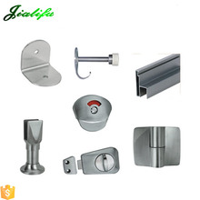 Compact laminate toilet cubicle partition stainless steel hardware accessories